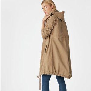 JustFab Jackets & Coats - Hooded Trench Coat